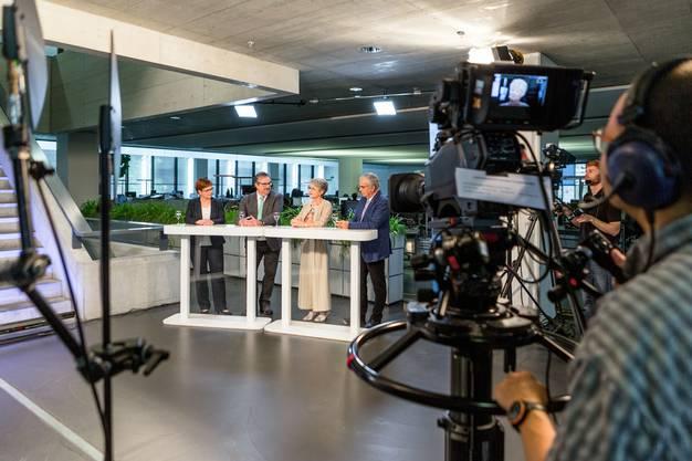 Die Aufzeichnungen fanden in der Redaktion in Aarau statt.
