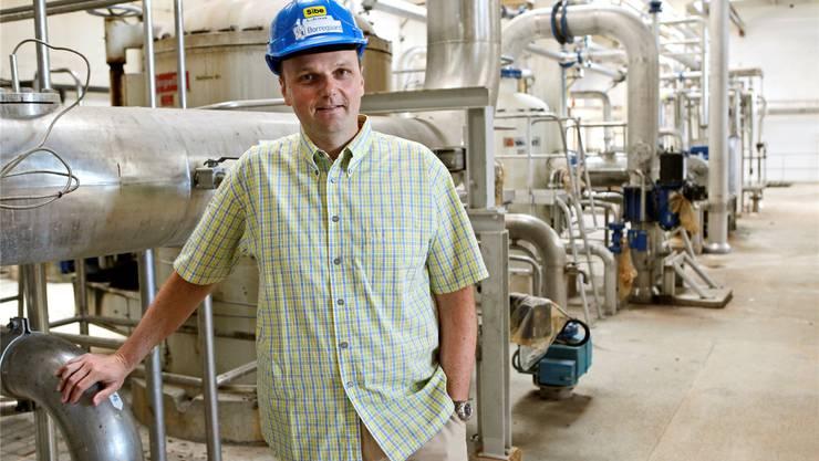 Lothar Kind sucht Käufer für die Anlagen der Zellulosefabrik.