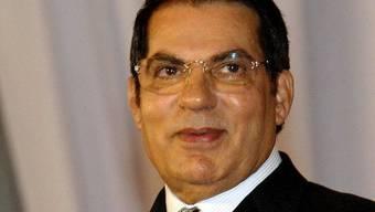 Der frühere tunesische Präsident Ben Ali (Archiv)
