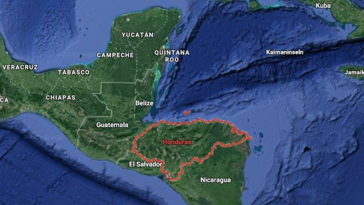 Das Schiffsunglück ereignete sich in der Karibik vor der Küste des mittelamerikanischen Landes Honduras.