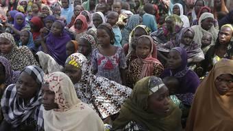 Vor Boko Haram geflohen - vom Hunger bedroht: Flüchtlinge in einem Lager im nigerianischen Yola. (Archiv)