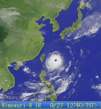 Der Taifun richtete in Taiwan erheblichen Sachschaden an