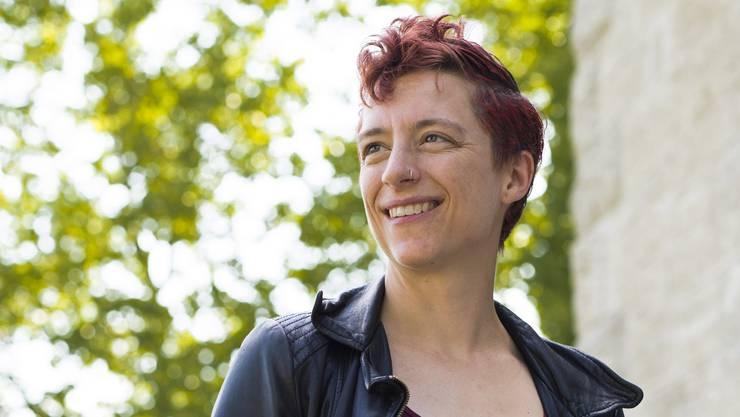Der «Star» unter den bloggenden Pfarrern bei «ungeniert reformiert»: Corinne Dobler (38) in Bremgarten, wo sie der reformierten Kirchgemeinde vorsteht.