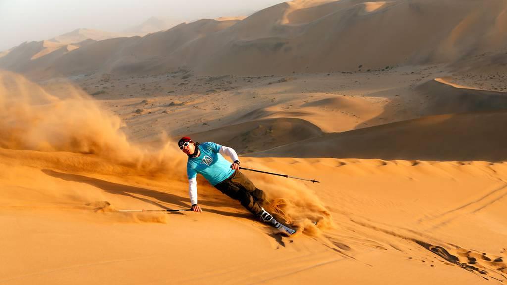 Namibia Dünenskifahren