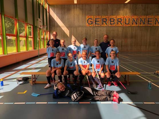 Mädchenteam von Unihockey Fricktal