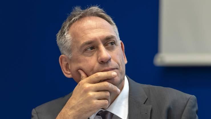 Die Kommunikationsabteilung seines Departements wird reduziert: Hans-Peter Wessels.