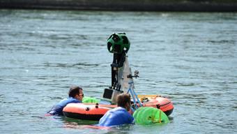 Google schwimmt im Rhein