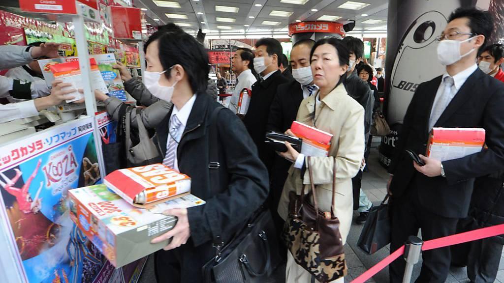 Japans Verbraucher steigern Ausgaben so stark wie nie