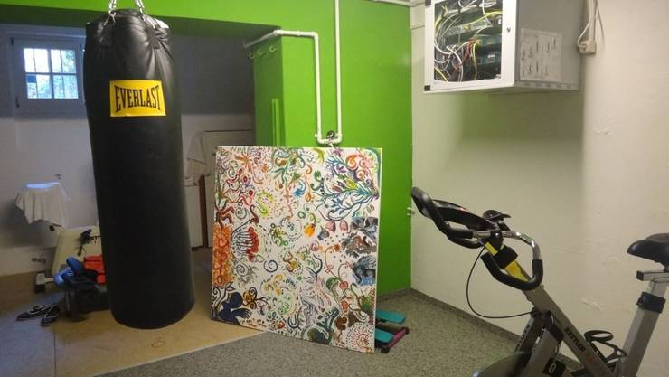 Die Kinder können ihre Zimmer individuell gestalten, auch der Boxsack im Kraftraum ist beliebt.
