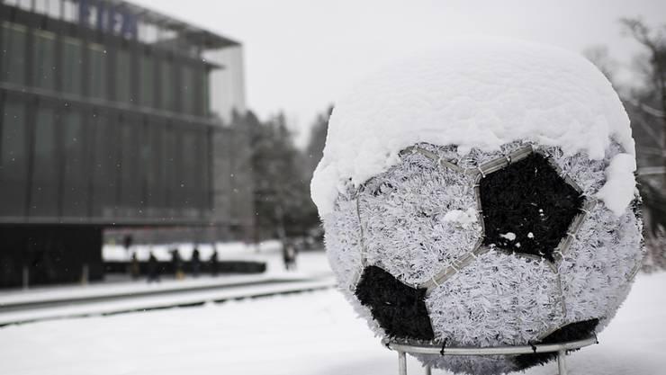 In St. Gallen ist aufgrund von ausgiebigen Schneefällen nicht an eine Super-League-Partie gegen den FCZ zu denken