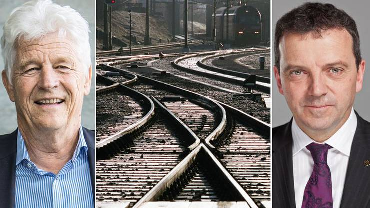Ex-SBB-Chef Benedikt Weibel warnt vor ausufernden Investitionen in die Infrastruktur - für Fabi-Gegner Walter Wobmann zu spät.