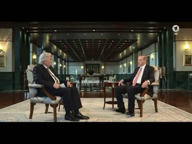 Der türkische Präsident Erdogan im ARD-Interview 25.07.2016