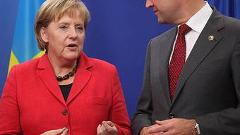 Angela Merkel und Fredrik Reinfeldt in Brüssel