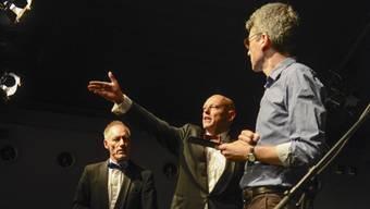 Daniel Buser, Roland Suter und Michael Wernli spielen «Fazit» im Basler Teufelhof.