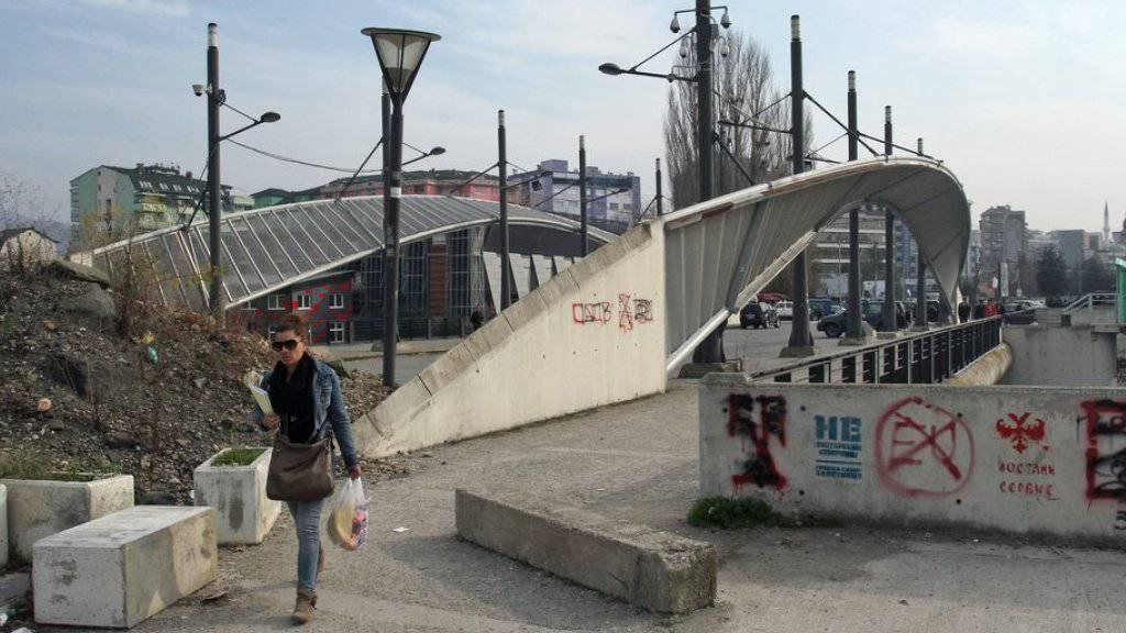 Eine Lösung wurde auch für die Brücke von Mitrovica im Norden des Kosovo gefunden. (Archiv)