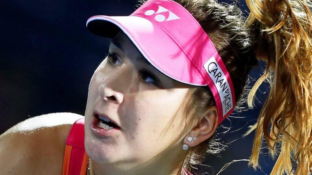 Nach grossem Kampf gescheitert: Belinda Bencic