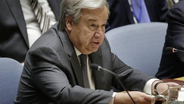 """Die Uno erlebt laut ihrem Generalsekretär António Guterres  die """"schlimmste Geldkrise seit fast einem Jahrzehnt"""". (Archivbild)"""
