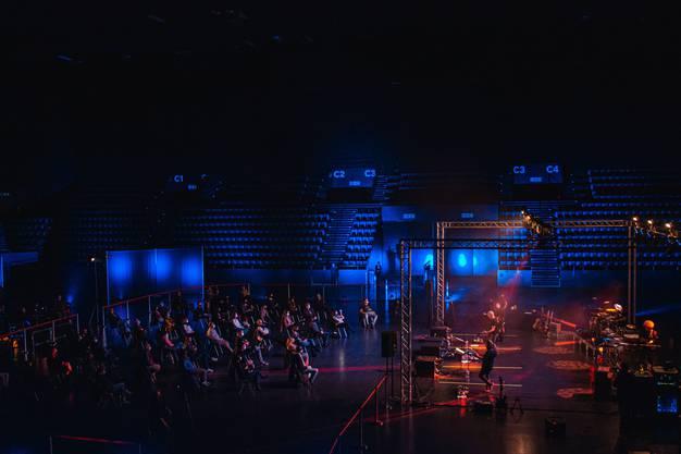 Am Konzert waren nur 50 Besucherinnen und Besucher dabei.