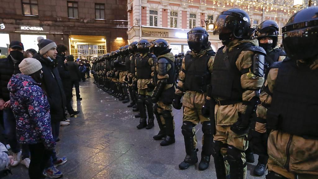 USA verurteilen hartes Vorgehen gegen Demonstranten in Russland
