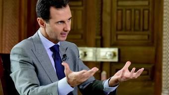 """Bezeichnet generell alle Gegner als """"Terroristen"""": Syriens Machthaber Baschar al-Assad, der der SRF-Sendung """"Rundschau"""" ein Interview gewährte. (Archiv)"""
