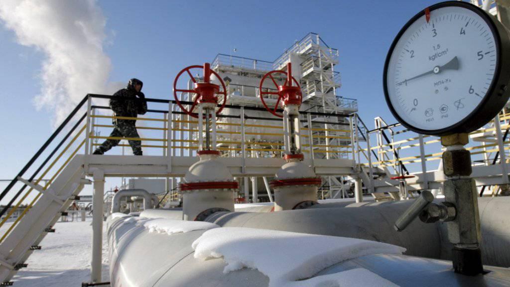 Öl-Förderstation im russischen Priobskoe (Archiv)