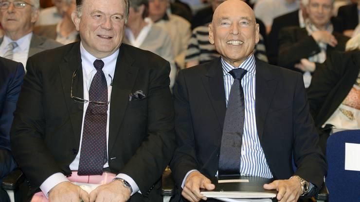 Peter Brabeck an seiner letzten CS-GV. Links neben ihm Walter Kielholz.