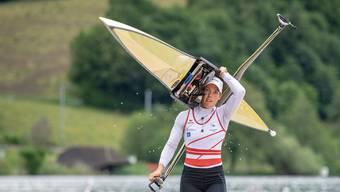 Grosse Last: Jeannine Gmelin will sich an der Ruder-WM in Linz für die Olympischen Spiele in Tokio 2020 qualifizieren.