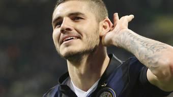 Stürmer Mauro Icardi traf dopperlt für Inter Mailand