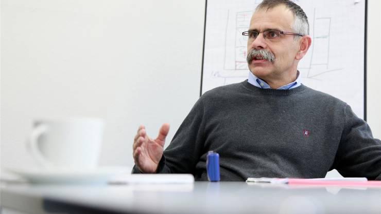 Der 51-jährige Nicolas Mühlemann leitete seit 2004 die «Papieri». Insgesamt war er während 22 Jahren für die 149-jährige Papierfabrik tätig. Foto: Hanspeter Bärtschi