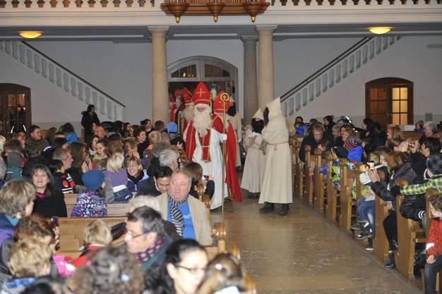 Aussendung der Samichläuse in der Eusebiuskirche Grenchen
