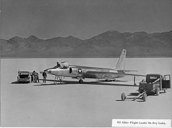 Eine U-2 auf dem Groom Lake.