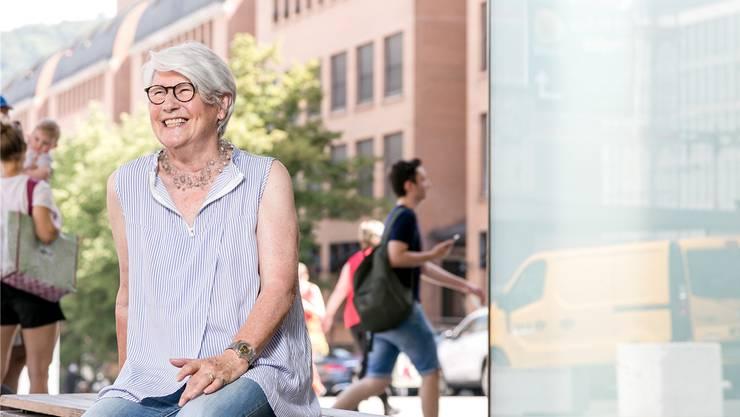 Im Migros-Gebäude beim Busbahnhof in Baden führte Monika Peterhans 20 Jahre lang ihr Kosmetikstudio. Seit einigen Jahren wohnt sie wieder dort. Sandra Ardizzone