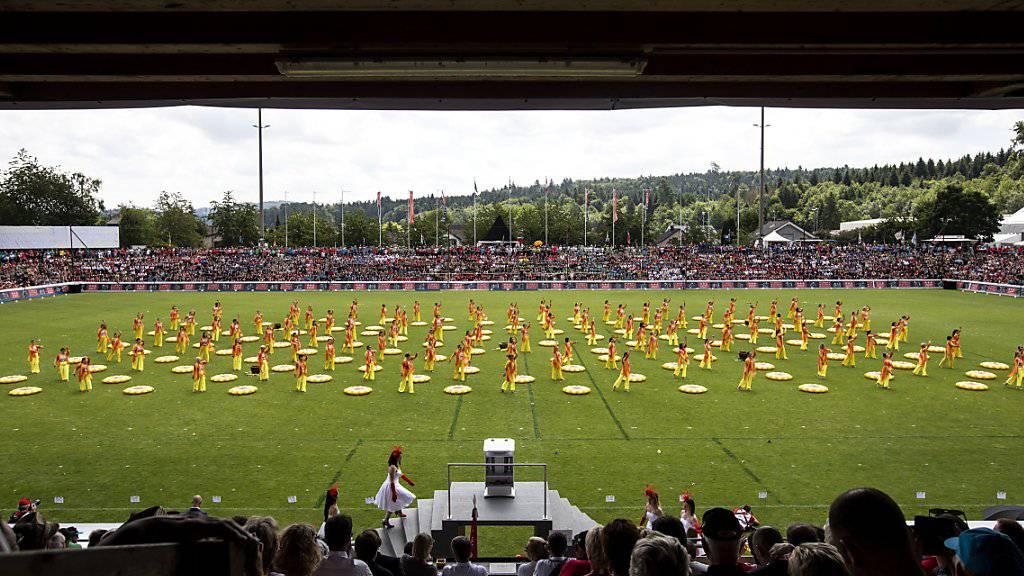 Schlussfeier des Eidgenössischen Turnfests im Juni 2019 im Stadion Brügglifeld in Aarau. (Archivbild)