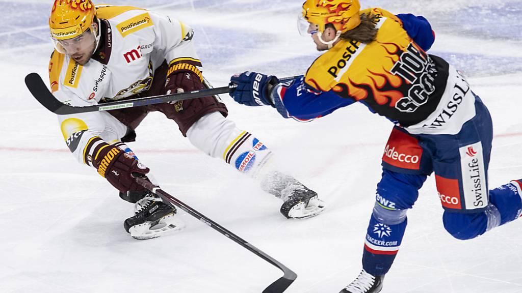 Henrik Tömmernes war die eine grosse Figur des Abends: Hinten wehrte er brillant gegen die Lions, vorne erzielte er im Powerplay beide Genfer Tore