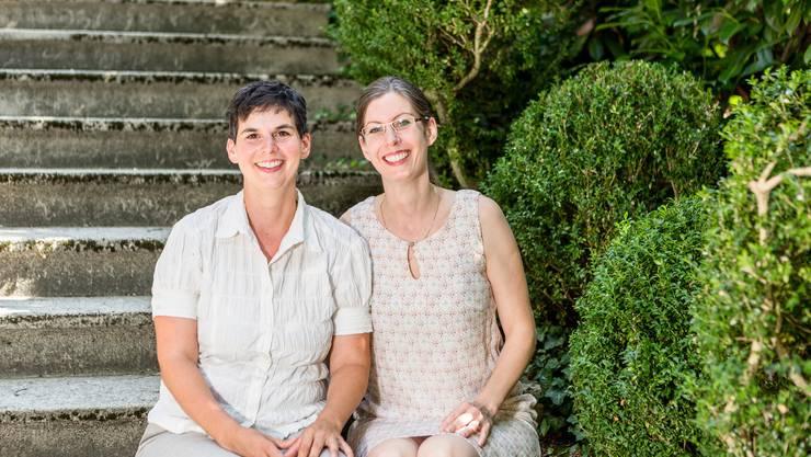 «Wir wollen Frauen aufklären und ihr Selbstbewusstsein fördern.» In der denkmalgeschützten Villa Lewin eröffneten die Schwestern Denise Werder (rechts) und Michèle Clemen das Kompetenzzentrum «Frau und Familie Baden».