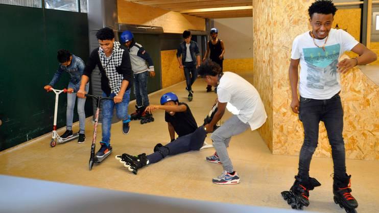 Jugendliche Asylsuchende im «Rolling Rock»