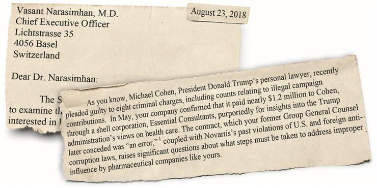 Geharnischter Brief: In einem Schreiben an den Novartis-CEO verlangt US-Senatorin Tina Smith die Herausgabe von Dokumenten im Zusammenhang mit Lobbying-Aktivitäten.