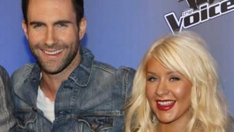 Adam Levine, Frontmann von Maroon 5, und Christina Aguilera arbeiten gerne zusammen (Archiv)