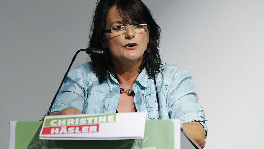 Die Grüne Berner Nationalrätin Christine Häsler will in die Berner Kantonsregierung. Die Berner Oberländerin kündigte am Mittwoch ihre Kandidatur für den Regierungsrat an.