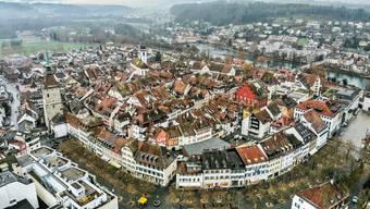 Drohnenaufnahmen der Stadt Aarau vom 17. Dezember 2018.