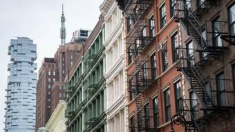 Das berühmteste Jenga-Haus: Das Basler Architekturbüro Herzog & De Meuron hat das Hochhaus «56 Leonard» in New York (links im Bild) entworfen.