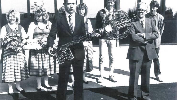 Der Schlüssel wird am 21.August 1987 übergeben