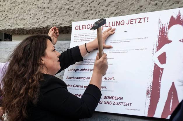 2016 bis 2019: Tamara Funiciello: «Gleichstellung jetzt».