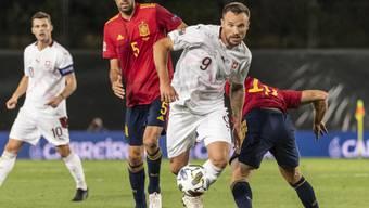 Die Schweizer mit Haris Seferovic taten sich in Madrid gegen Spanien vor allem in der Offensive schwer