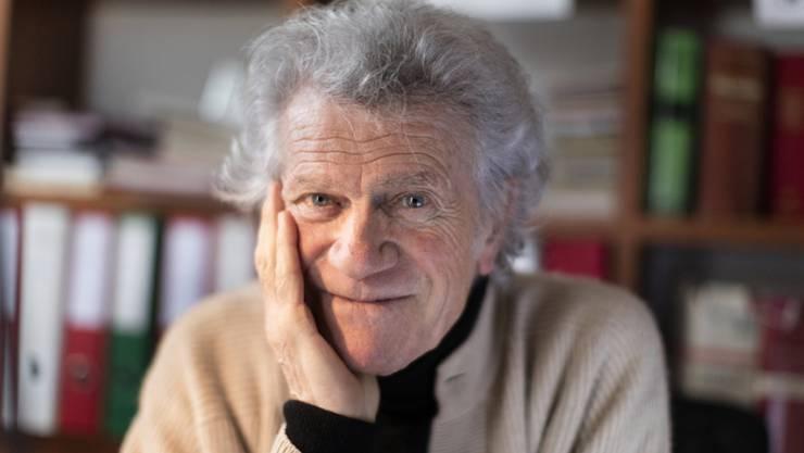 Alberto Nessi in seinem Haus in Bruzella: Der Tessiner ist nach Adolf Muschg der zweite Autor, der den höchsten Schweizer Literaturpreis alleine erhält  (Archiv)