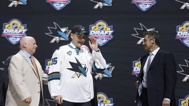 Von den San Jose Sharks als Nummer 9 gewählt: Timo Meier
