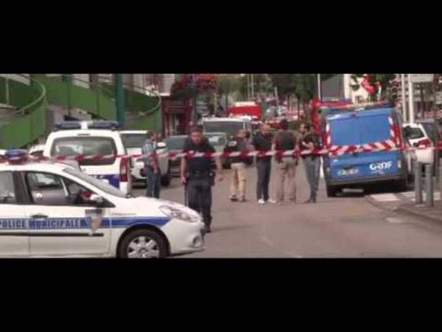 Ein Video vom Tatort der Geiselnahme in Saint-Etienne-du-Rouvray.