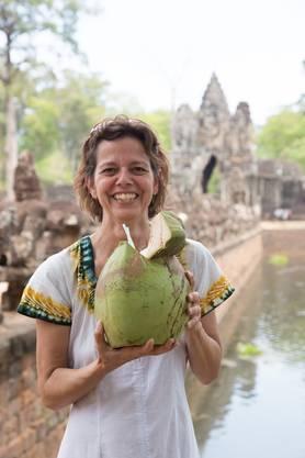 Ackermann Dorothea (52): Bayon Tempel (Tempel von Angkor), Siem Reap, Kambodscha
