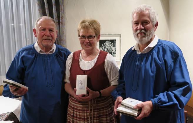 Die neuen Ehrenmitglieder: Sepp Kaufmann, Rosmarie Lüthi, Franz Broghammer ( Brigitte Broghammer fehlt)
