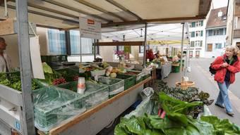 Das Bauernmarkt-Angebot ist auch an der Rosengasse gluschtig, wird aber weniger genutzt.